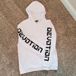 ASOS White Sweatshirt Camo 'DEVOTION' on sleeves